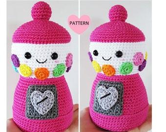 Gumball Machine -  PDF Pattern, amigurmi, crochet