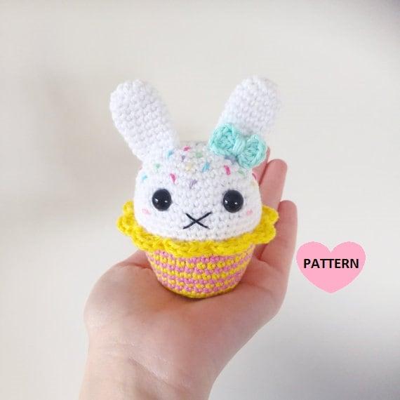 Patrón de conejo Cupcake PDF amigurmi crochet   Etsy