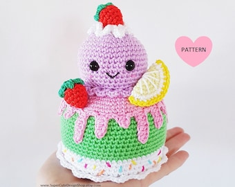 Ice Cream Cake - PDF Pattern, crochet, amigurumi
