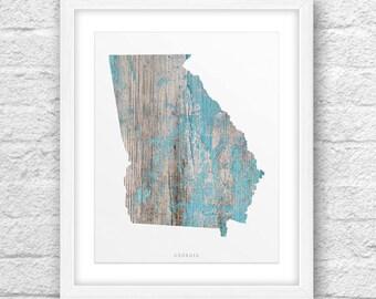 Georgia Map State.Georgia Map Georgia Printable Georgia Art Georgia State Etsy