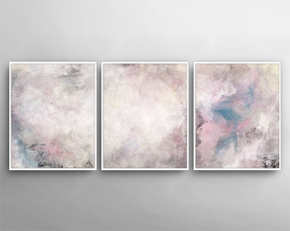Modern Wall Art Set Of 3 Painting Canvas Art Printable Art 3 Poster Set Printable Wall Art Bedroom Art Printable Canvas Set Art Set