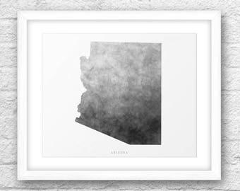 Arizona Map, Arizona Print, Arizona Art, Arizona State, Wall Art, Minimal Design, Minimalist Art, Arizona Printable,Instant Download