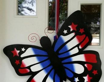 4 ° gigante di appendere porta luglio farfalla 3D