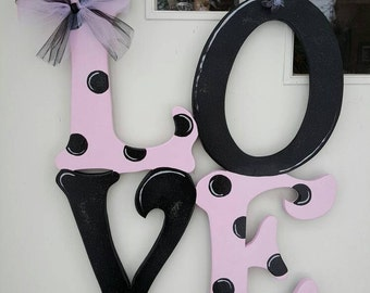 LOVE Letters door hang in any color combination