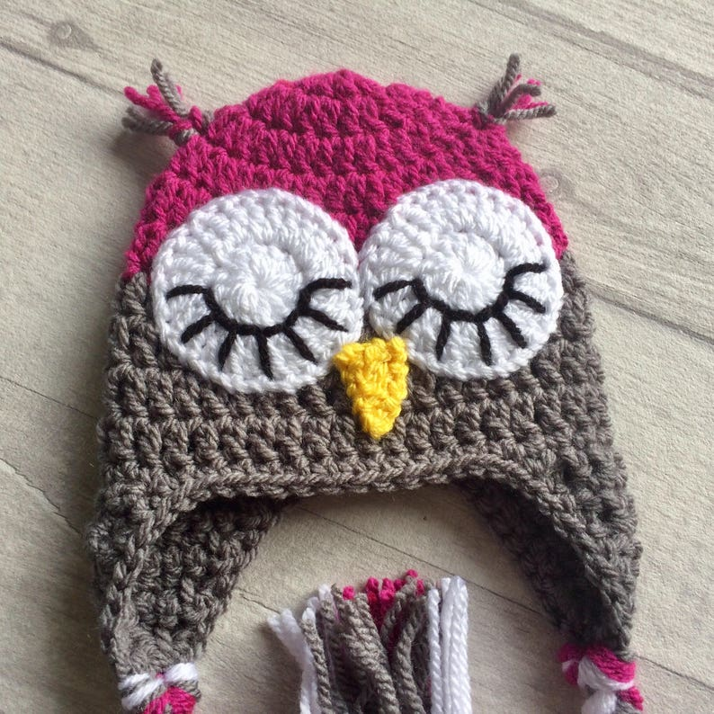 Girls Sleepy Owl Crochet Outfit Owl Costume MADE TO ORDER Nappy Cover Baby Shower Gift Baby Photography Prop