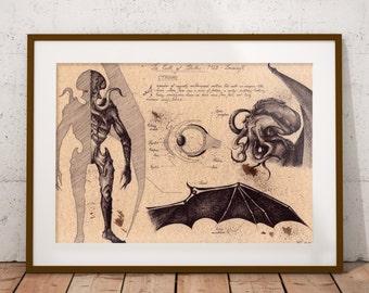 Medium - Cthulhu - Lovecraft Art Print