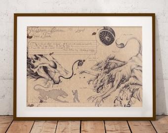 Medium - Hounds of Tindalos - Lovecraft Art Print