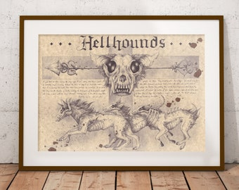 Medium - Hellhounds - night version Art Print