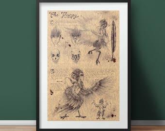 Large - Harpy - Mythology Art Print