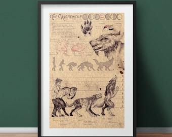 Large - Werewolf - European Folklore Art Print