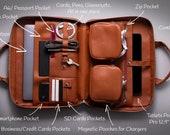 Laptop Briefcase, Leather Laptop Briefcase, Leather minimal Briefcase, Laptop Bag, Briefcase Bag   Harber London