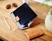 "iPad Pro 10.5"", 11"", 12.9"" & 9.7"" EVO collection, Smart Keyboard, Apple Pencil holder Zip Leather Folio Sleeve Case Felt Cover"