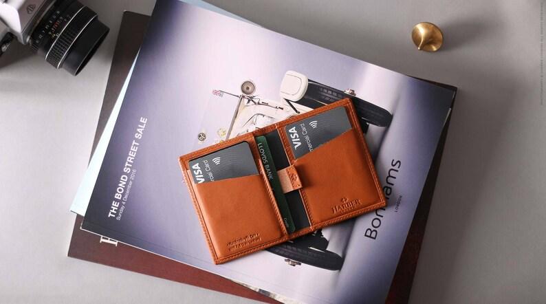 977a07027eda RFID Card Wallet Leather Slim RFID Leather Wallet Mens