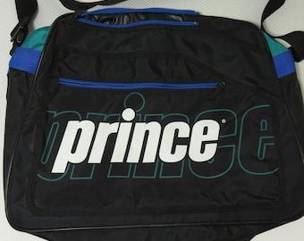 16a5146d26f0 Prince Tennis Racquet Bag Vintage 1990 s Mutli Colored Black Green Blue