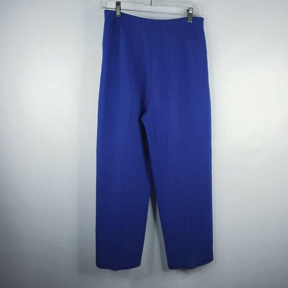 Vintage 80s St John Santana Knit Cobalt Blue Swea… - image 4
