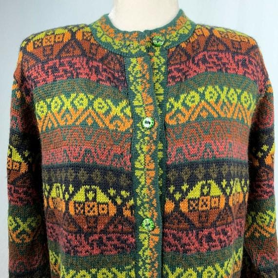 Vintage Alpaca Connection Cardigan Sweater XL Wool
