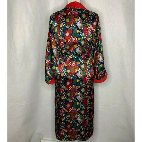 Vintage Full Length Bath Robe OS Multicolored Ter… - image 6