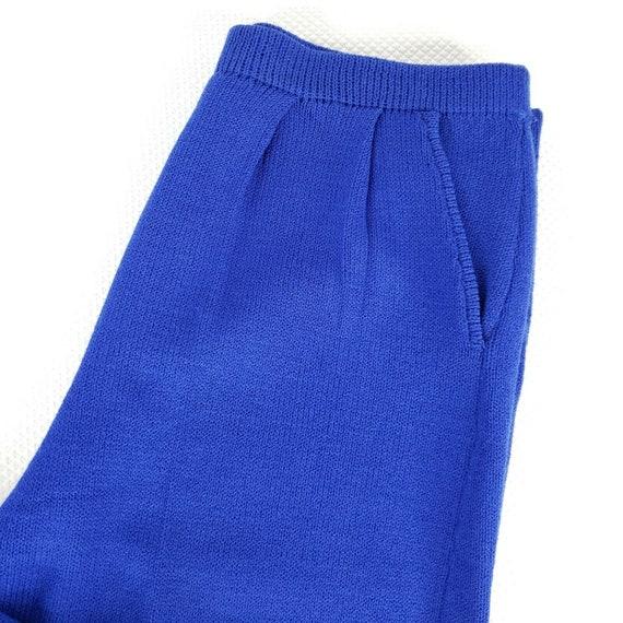 Vintage 80s St John Santana Knit Cobalt Blue Swea… - image 9