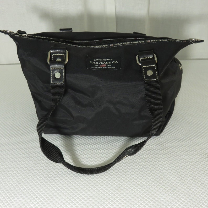 87369e333 Vintage 90s Ralph Lauren Polo Jeans Company Black Nylon