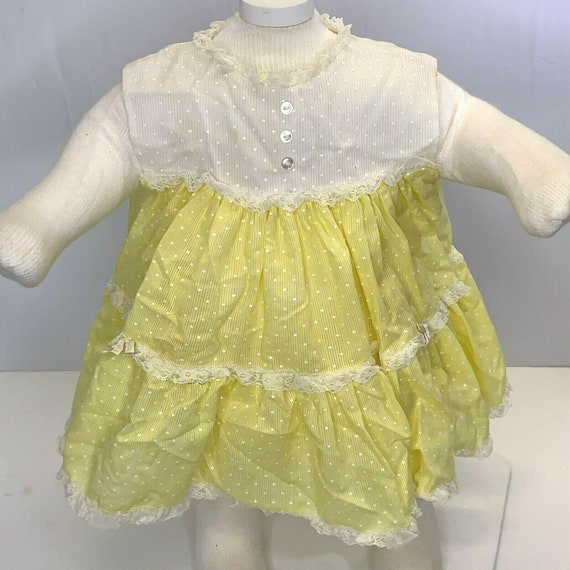 vintage 70s baby outfit BUNTING jacket hoody blanket set satin fancy yellow toddler infant