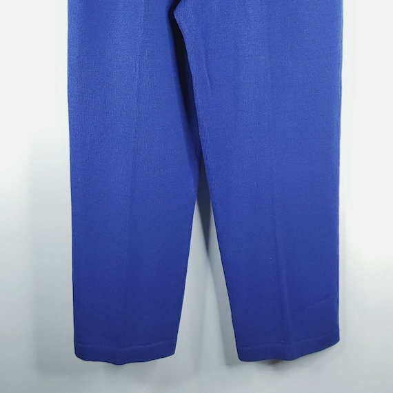 Vintage 80s St John Santana Knit Cobalt Blue Swea… - image 6