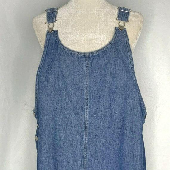 Vintage Denim Pinafore Maxi Dress Blue XL Jumper C