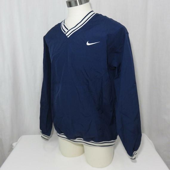 reasonably priced pick up professional sale Vintage Nike L White Tag 90s Era Windbreaker Jacket Blue White Swoosh