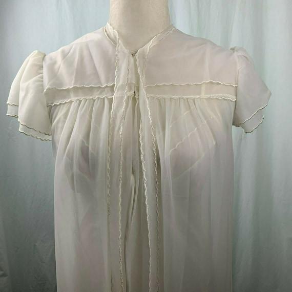 Vintage Val Mode Wedding Peignoir Set S Ivory Chif