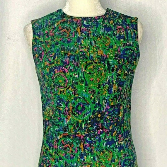 Vintage 60s Youth Guild Wiggle Dress S Green Mod S