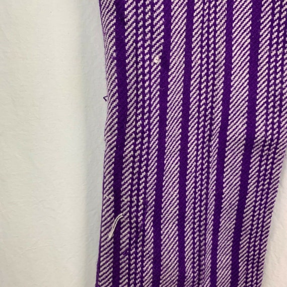 Vintage 70s Miss Holly Woven Knit Pants 8 Purple … - image 6