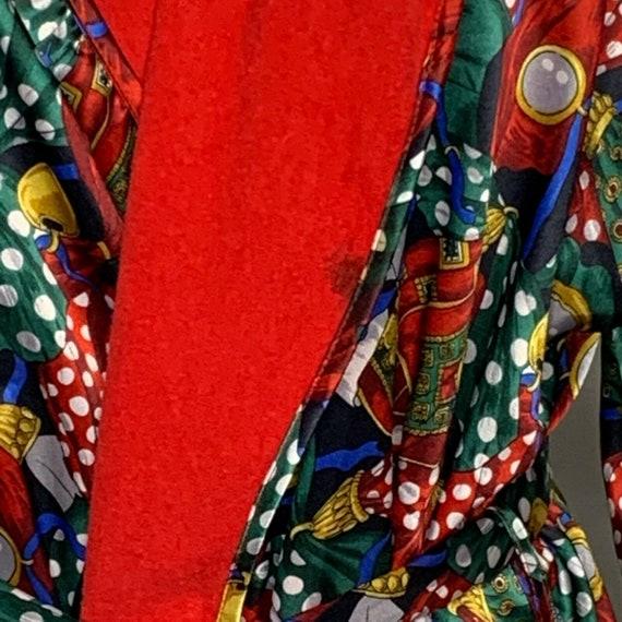 Vintage Full Length Bath Robe OS Multicolored Ter… - image 3