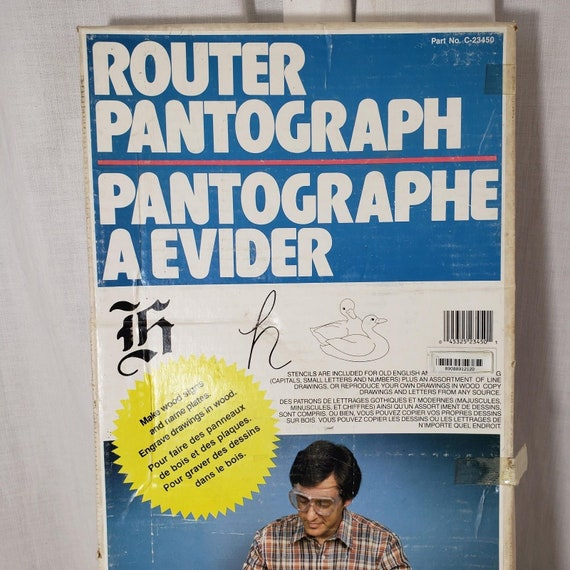 Vintage New Router Pantograph Kit C 23450 Vermont American 850 Etsy