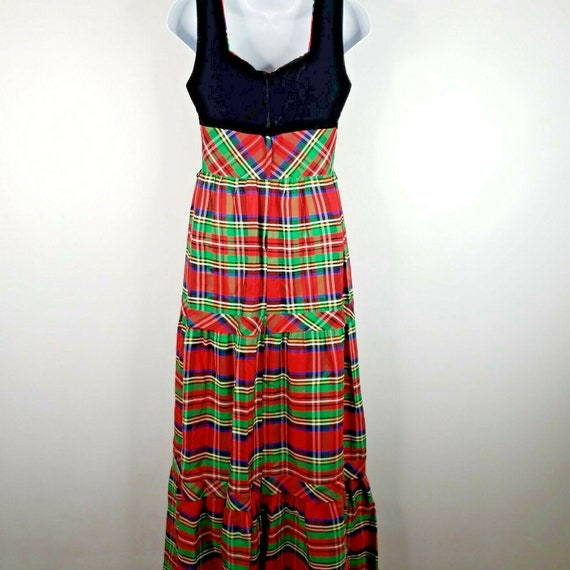 Vintage 70s Candi Jones Dress M Red Green Christm… - image 5
