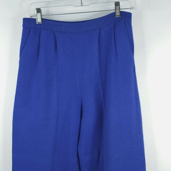 Vintage 80s St John Santana Knit Cobalt Blue Swea… - image 2