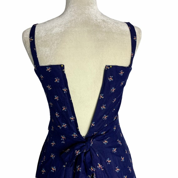 Vintage Gunne Sax Calico Prairie Dress S Blue Sun… - image 9