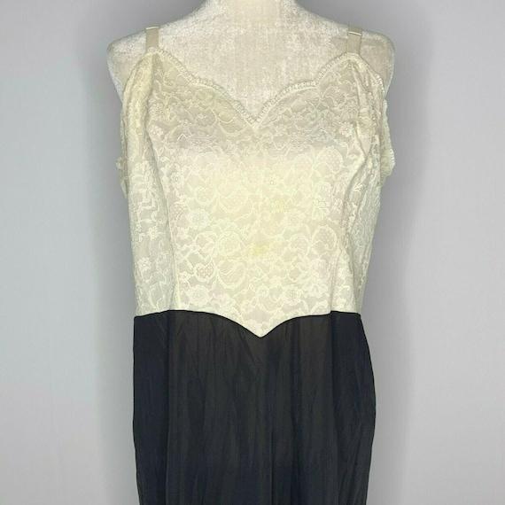 Vintage Vanity Fair Lingerie Nightgown Slip XL Bla