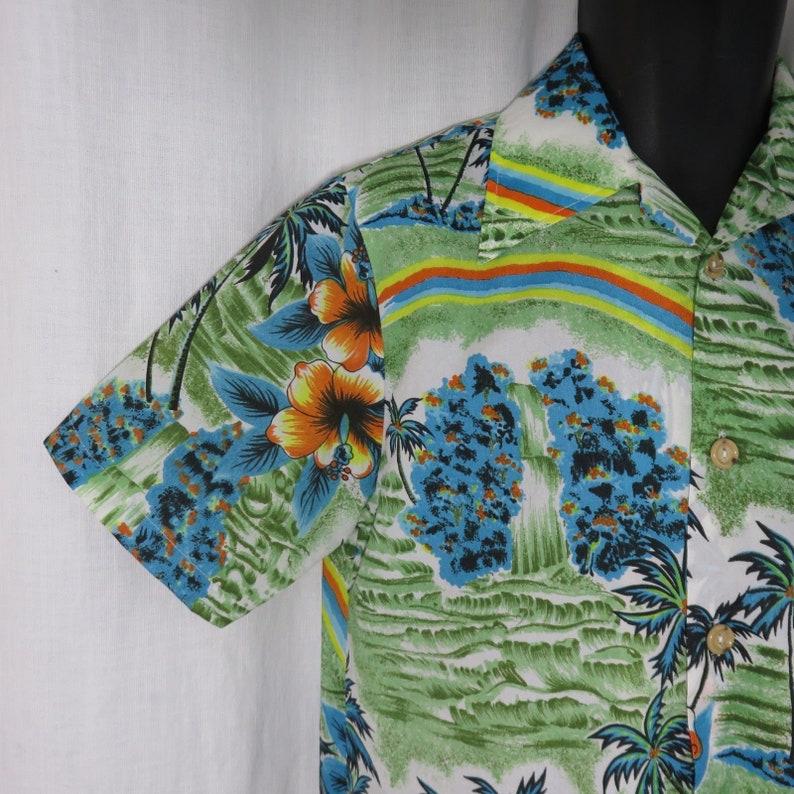 5b60beca JCPenney Towncraft Vtg 70s S Bright Hawaiian Aloha Shirt | Etsy
