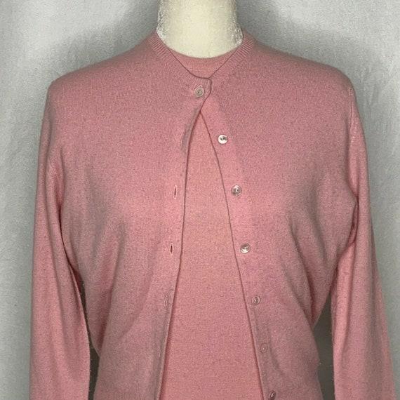 Vintage 50s Bernhard Altmann Twin Set S Pink Cashm