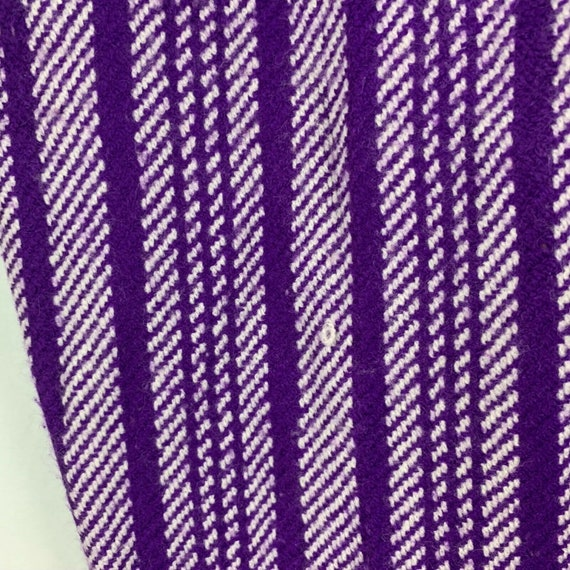 Vintage 70s Miss Holly Woven Knit Pants 8 Purple … - image 3
