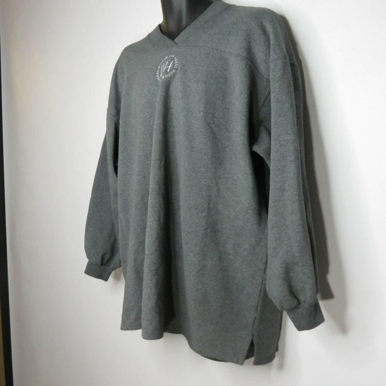 Vintage Las Vegas Hilton Hotels Pullover Jersey Logo Sweatshirt 2XL Heather Gray