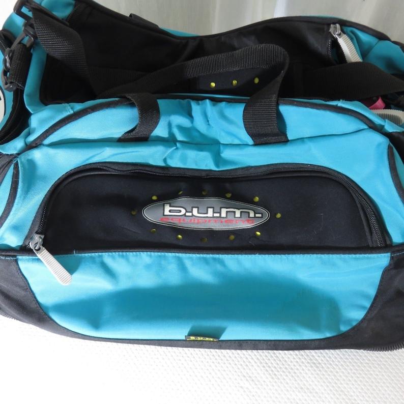4d1523443 B.U.M Bum Equipment Teal Nylon Gym Bag Duffle Bag Carry On | Etsy