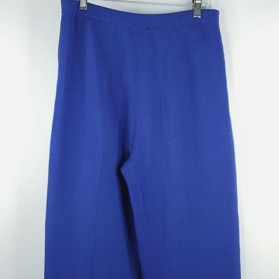 Vintage 80s St John Santana Knit Cobalt Blue Swea… - image 5