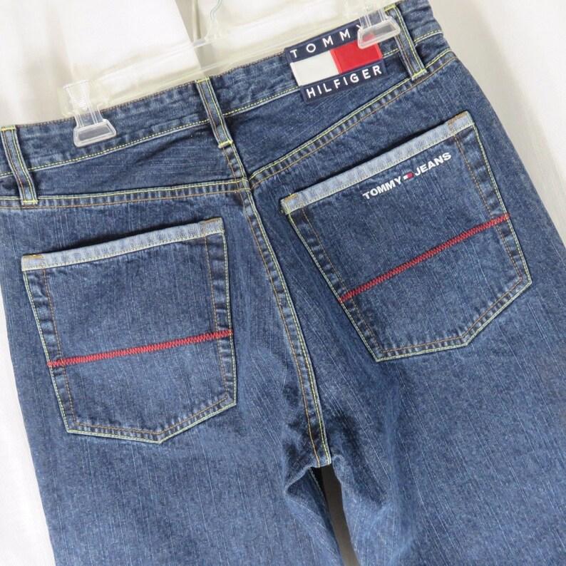 99967c44ca Vintage Tommy Hilfiger Large Flag Dark Blue Jeans 31 X 26 | Etsy