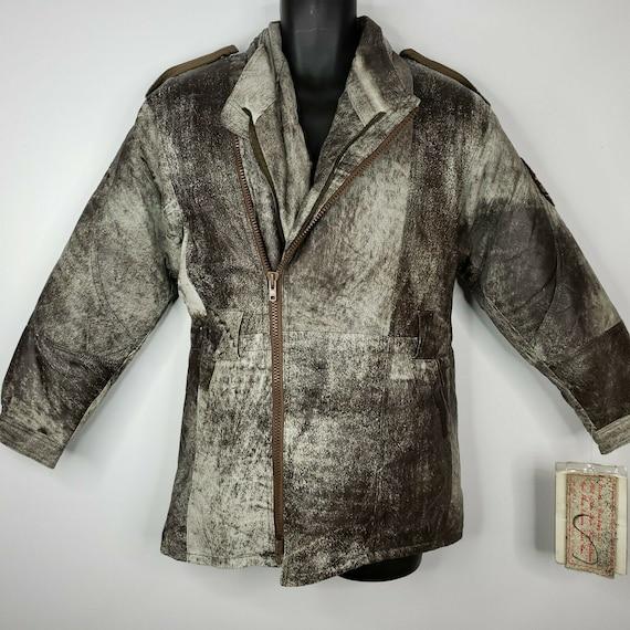 World Of Troop Vintage Leather Jacket Parka Goose