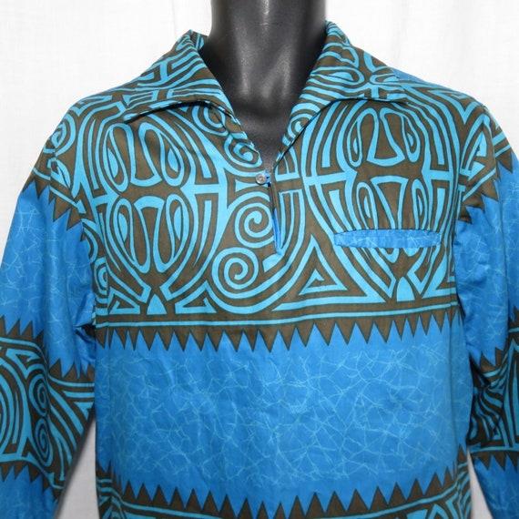 4b156b61 Vintage Malihi Hawaii Aloha Hawaiian Shirt M Teal Green Brown | Etsy