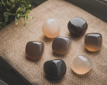 Gray Agate stone set