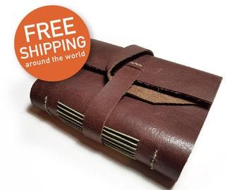 Handmade leather notebook