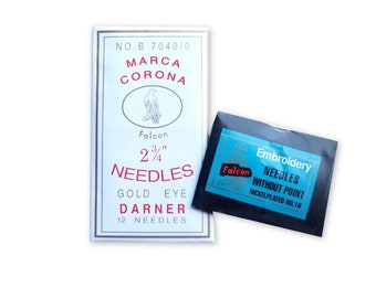 Needles for bookbinding, embroidery, jewellery making and more