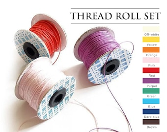Thread set - 10 rolls | BEST VALUE | For bookbinding, shoe making, bag making and more