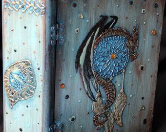 original dragon bandsaw box Dragon sculpture Norse artwork viking dragon wood box Celtic style wood dragon viking lovers gift